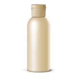 Cool Realistic blank bottle. For cosmetics. Vector