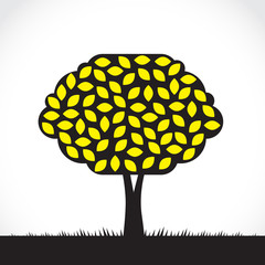 Abstract symbolic lemon tree illustration