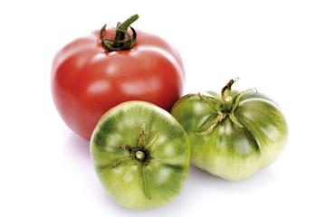Rote und grüne Tomaten, Nahaufnahme