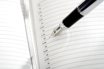 Tagebuch und Stift, Nahaufnahme
