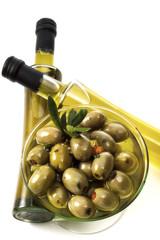 Schale Oliven, erhöhte Ansicht
