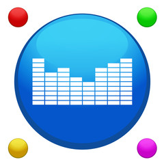 Equalizer icon button
