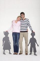 Junges Paar lächelnd, Porträt