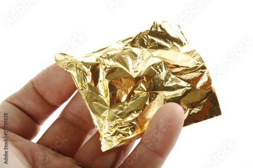 Blatt aus Gold