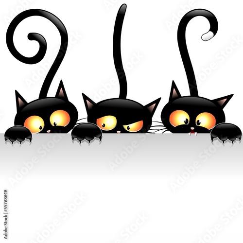 Lustige Katzen Cartoon mit Panel-Gatti Buffi con Pannello