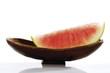 Geschnitten Wassermelone in der Schüssel, Nahaufnahme