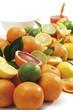 Verschiedene Zitrusfrüchte, Nahaufnahme
