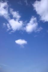 Wolken in einem blauen Himmel