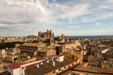 Panorama of Palma de Mallorca.