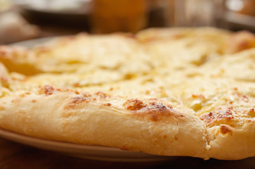 Khachapuri close-up