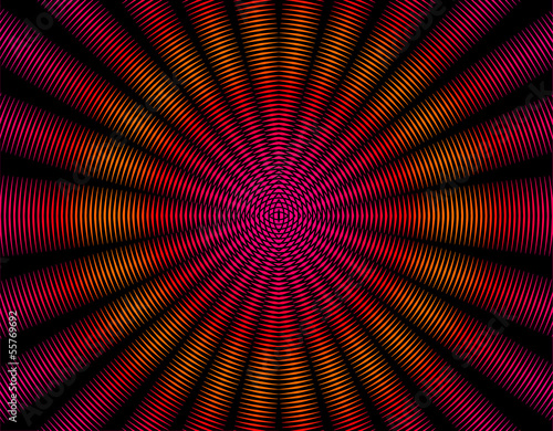 Red orange and pink rays abstract interference pattern