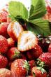 Frische Erdbeeren, Nahaufnahme