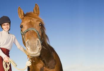 Mädchen mit Pony, Porträt