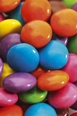 Farbige Pralinen, Nahaufnahme