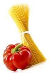 Spaghetti mit Paprika