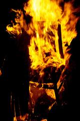 Stuhl fängt Feuer