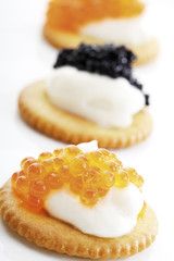 Kaviar Vorspeise, Nahaufnahme