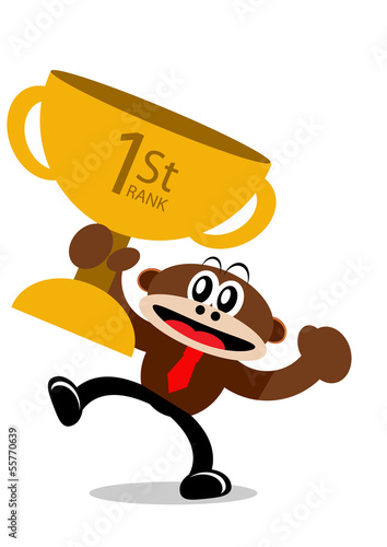 Cartoon Monkey in Business Themes