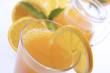 Frisch gepresster Orangensaft, Nahaufnahme