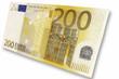 Zweihundert Euro-Banknoten, Nahaufnahme