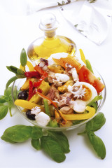 Frutti di Mare, Meeresfrüchtesalat, erhöhte Ansicht