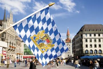 Deutschland, Bayern, München, Flagge