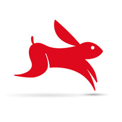 Vector logo rabbit