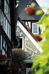 Deutschland, Rüdesheim, historische Fassaden