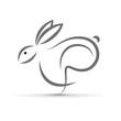Vector logo hare