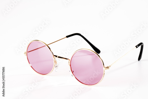 Rosa Metall-Brille