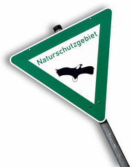 Naturschutzgebiet, Zeichen