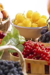 Verschiedene Früchte, Nahaufnahme