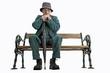Alter Mann sitzt auf der Bank