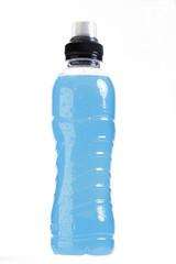 Flasche blauer Flüssigkeit