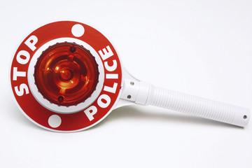Stopp-Zeichen der Polizei