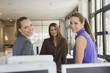 Drei Frauen in Büro