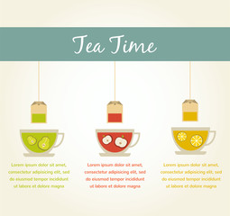tea time. fruit tea infographics