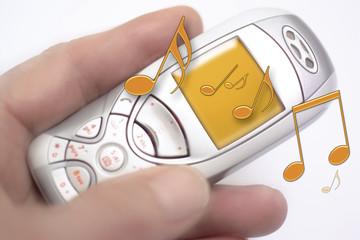 Handy spielt Musik, Nahaufnahme