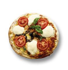 Frische Pizza, erhöhte Ansicht