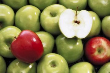 Frische Äpfel, Nahaufnahme