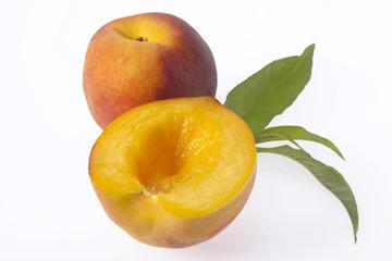 Frische Pfirsiche, Nahaufnahme