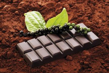 Schokolade mit Pfeffergeschmack, Nahaufnahme