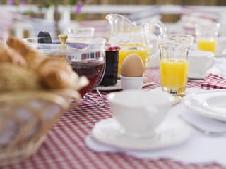 Frühstück am Tisch, Nahaufnahme