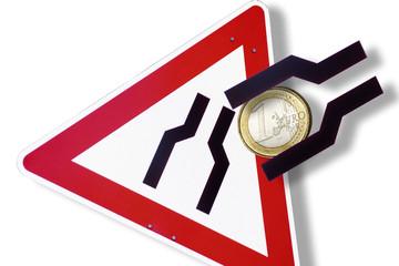 Euro-Währung in einem Engpass
