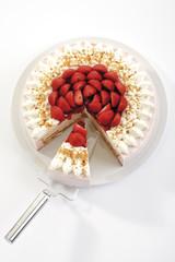 Erdbeere-Sahne-Torte, Nahaufnahme