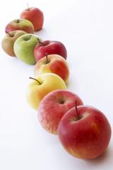 Verschiedene Äpfel