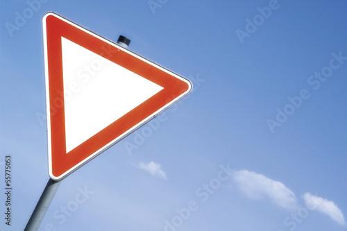 Vorfahrt Zeichen, Nahaufnahme