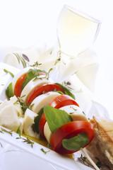 Tomaten-Mozzarella-Sticks, Nahaufnahme