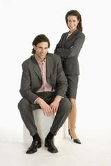 Geschäftsmann und Geschäftsfrau