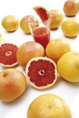 Rubinrot Grapefruits, Nahaufnahme